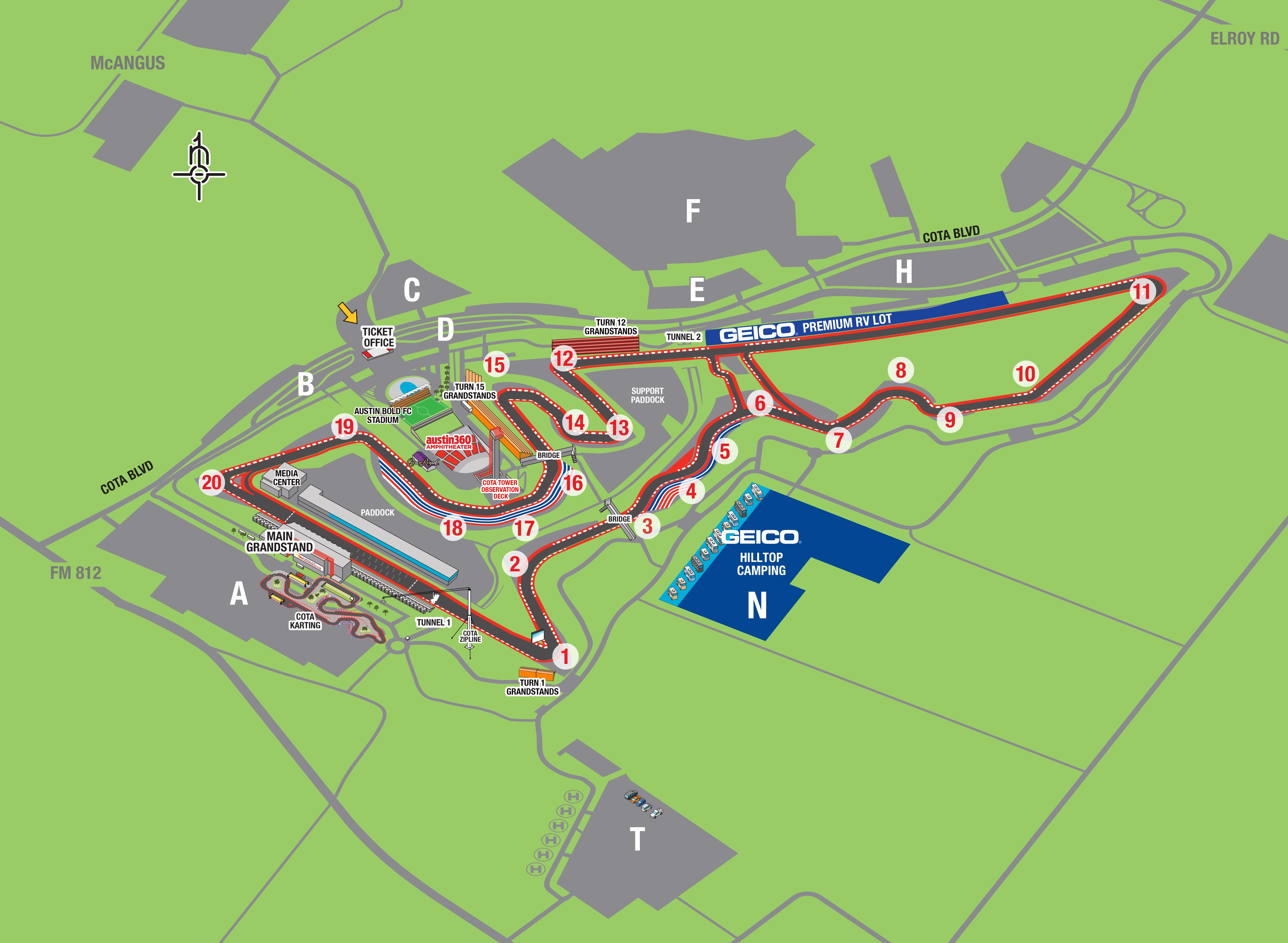 Maps | Circuit of The Americas Circuit Of The Americas Map on