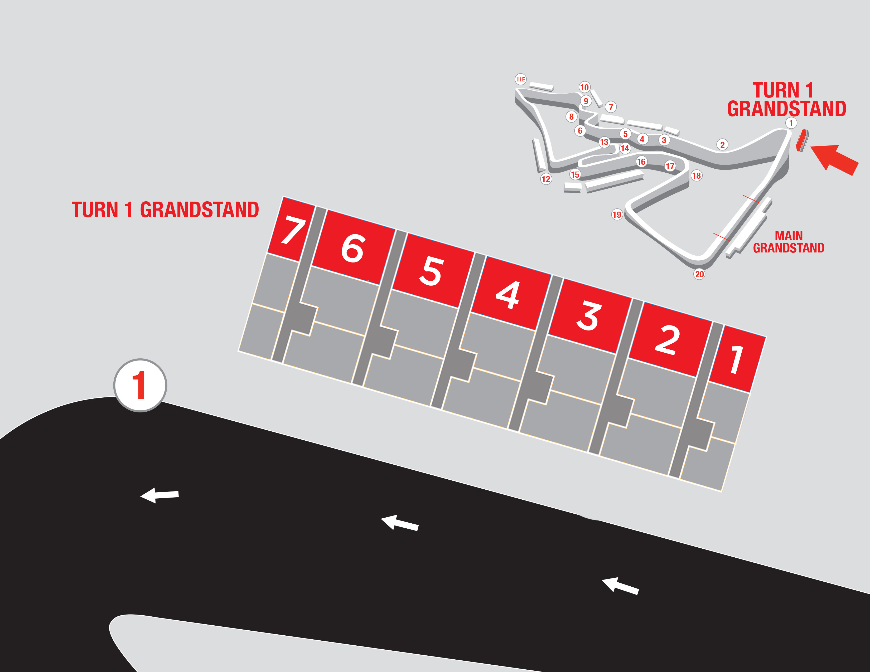 turn 1 grandstand starting at 445 circuit of the americas