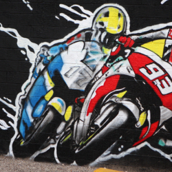 MotoGP-themed mural created in downtown Austin | COTA Blog